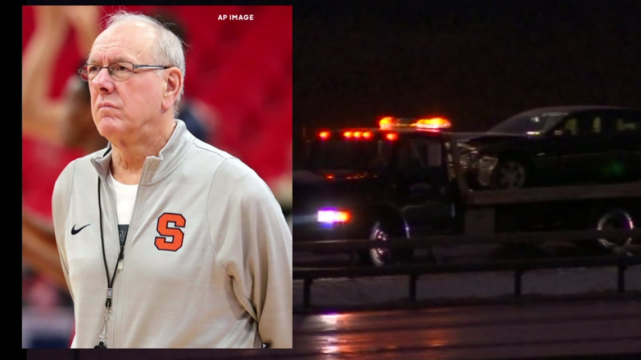 Police say Syracuse mens basketball coach Jim Boeheim struck and killed a 51-year-old man walking outside his vehicle on a highway.