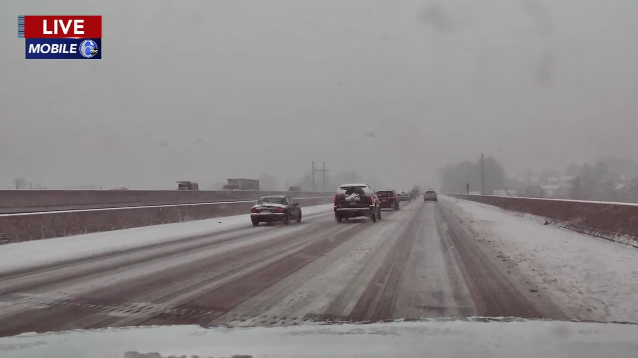 Mobile 6 captured the snow from 476 north in Conshohocken. Maggie Kent reports during Action News at 12 p.m. on February 20, 2019.