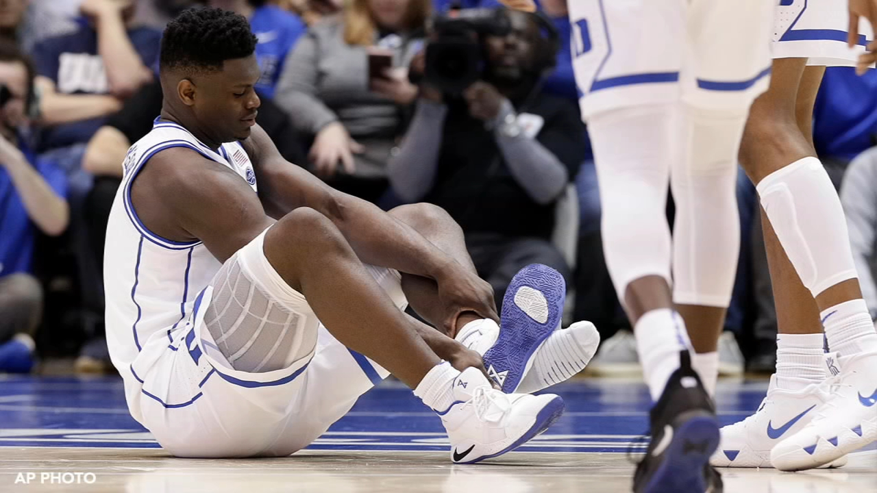 Zion Show suffers freak injury. Matt ODonnell reports during Action News Mornings on February 21, 2019.